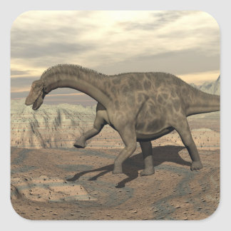Dicraeosaurus dinosaur walking - 3D render Square Sticker