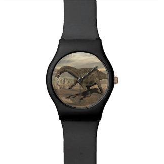 Dicraeosaurus dinosaur walking - 3D render Watch
