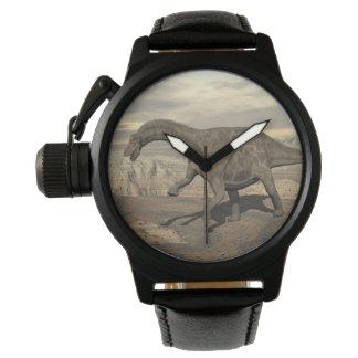 Dicraeosaurus dinosaur walking - 3D render Wristwatch