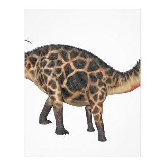 Dicraeosaurus In Side Profile Letterhead