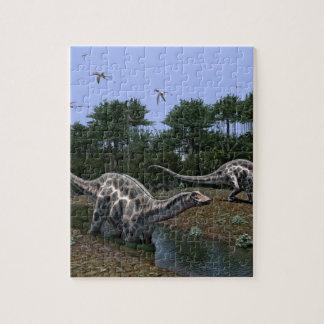 Dicraeosaurus Scene Jigsaw Puzzle