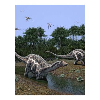 Dicraeosaurus Scene Letterhead