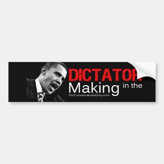 """""""Dictator in the Making"""" Bumper Sticker"""