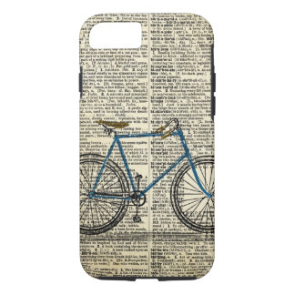 DICTIONARY Art Blue Bicycle Bike Vintage iPhone 8/7 Case