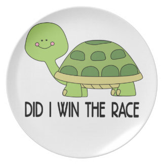 Did I Win The Race.png Party Plate