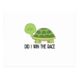 Did I Win The Race.png Postcard