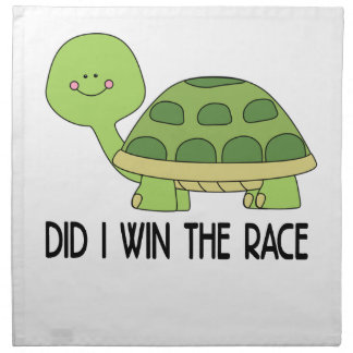 Did I Win The Race.png Printed Napkin