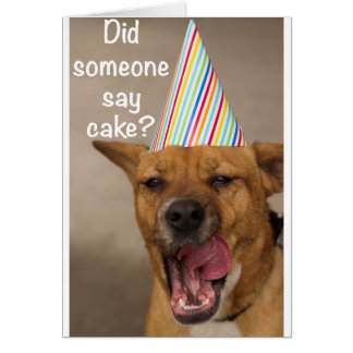 Did Someone Say Cake? Birthday Card