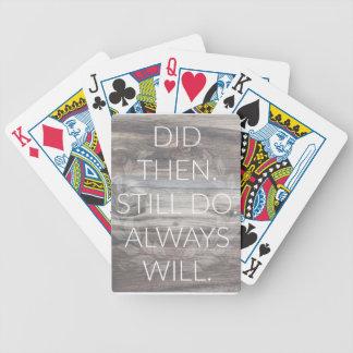 Did then, Still do - Anniversary Weddings Renewal Poker Deck