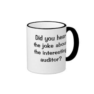 Did you hear the joke...? - Funny Auditor Joke Ringer Coffee Mug