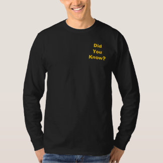 Did You Know? 2 Cor 5:19 Black Long Sleeve Tee