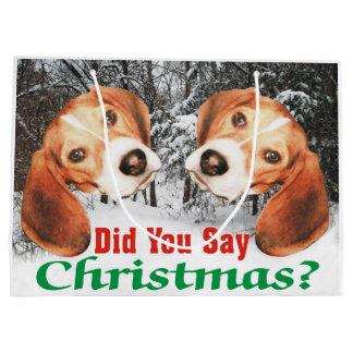 Did You Say Merry Christmas? Beagle Gift Bag
