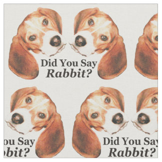 Did You Say Rabbit? Beagle Fabric to Howl About