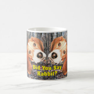 Did You Say Rabbit? Beagle Woodland Mug
