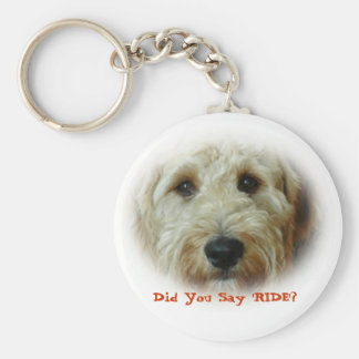 Did You Say RIDE Funny Dog Basic Round Button Keychain