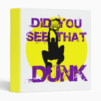 DID YOU SEE THAT DUNK 3 RING BINDERS