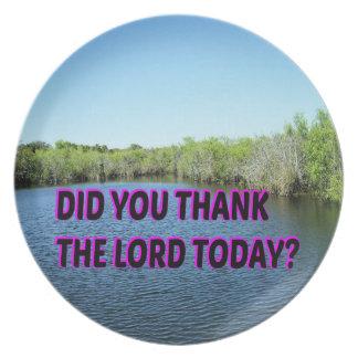 Did You Thank The Lord Today? Dinner Plates