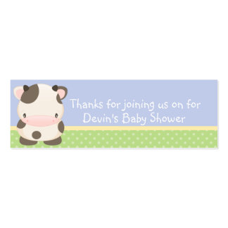 Diddles Farm moo-Cow Baby Shower Favor Tag B Business Card