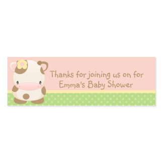 Diddles Farm moo-Cow Baby Shower Favor Tag Business Cards