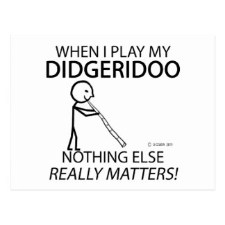 Didgeridoo Nothing Else Matters Postcards