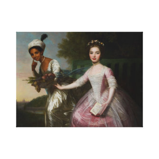 Dido Elizabeth Belle and Lady Murray Canvas Print