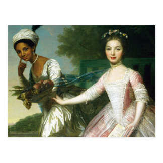 Dido Elizabeth Belle and Lady Murray Postcard
