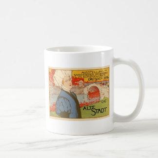 Die Alte Stadt by Otto Fischer Basic White Mug
