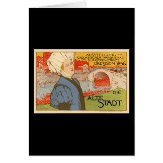 Die Alte Stadt by Otto Fischer Greeting Card