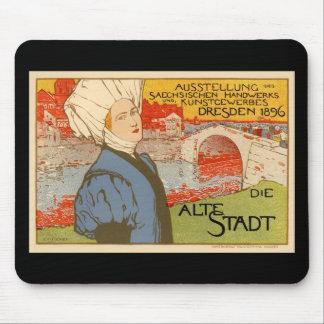 Die Alte Stadt by Otto Fischer Mousepad