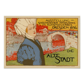 Die Alte Stadt by Otto Fischer Posters