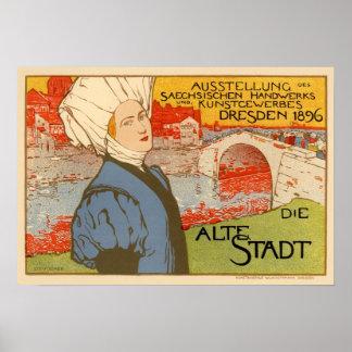 Die Alte Stadt by Otto Fischer Print