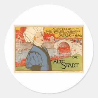 Die Alte Stadt by Otto Fischer Round Sticker