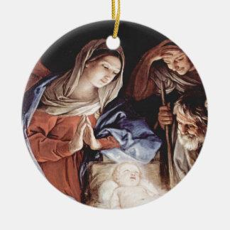Die Anbetung der Hirten Round Ceramic Ornament