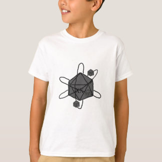 Die-Atom(Outline All Black)(Inside All Gray) T-Shirt