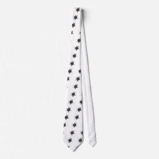 Die-Atom(Outline All Black)(Inside All Gray) Tie