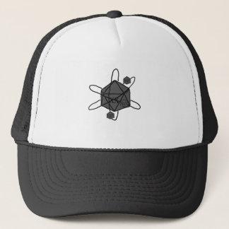 Die-Atom(Outline All Black)(Inside All Gray) Trucker Hat