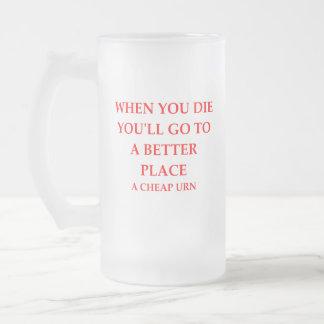 DIE FROSTED GLASS BEER MUG