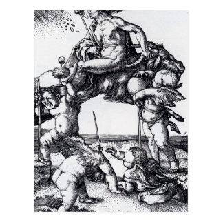 Die_Hexe_(Albrecht_Dürer) Postcard