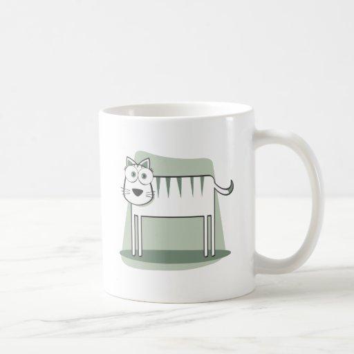 Die Katze zum Quadrat Coffee Mugs