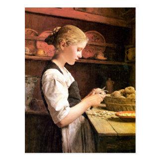 Die kleine Kartoffelschälerin Postcard