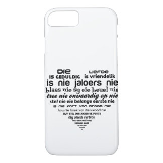 Die liefde 1 Korinthiers 13:4-8 Case-Mate iPhone Case