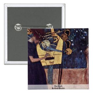 Die Musik By Klimt Gustav Pinback Buttons