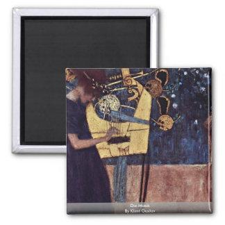 Die Musik By Klimt Gustav Refrigerator Magnet