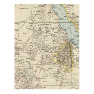 Die Nillander - Atlas Map of the Nile Postcard