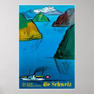 Die Schweiz, Switzerland, Travel Poster