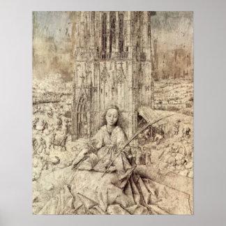 Die St. Barbara by Jan van Eyck Poster