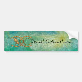 Dieezah' S Caribbean crreations. Bumper Sticker