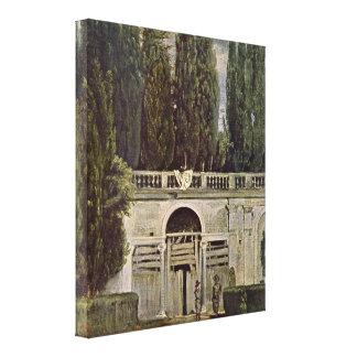 Diego Vélazquez - le jardin de la villa Medici Toile Tendue