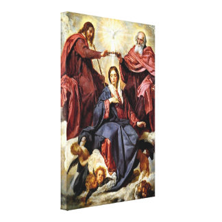 Diego Velazquez - The Coronation of Mary Canvas Print