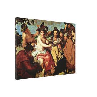 Diego Velazquez - The Drunks Bacchus Triumph Stretched Canvas Prints